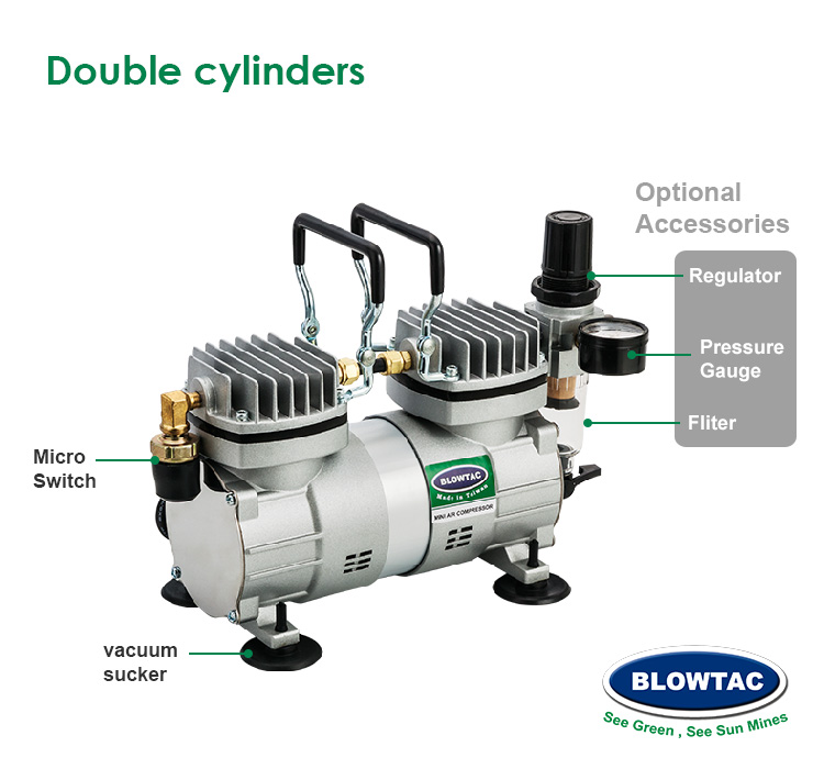 Double cylinders with tank