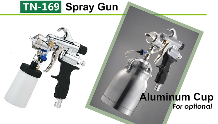 TN-169 Spray Gun & Aluminum Cup