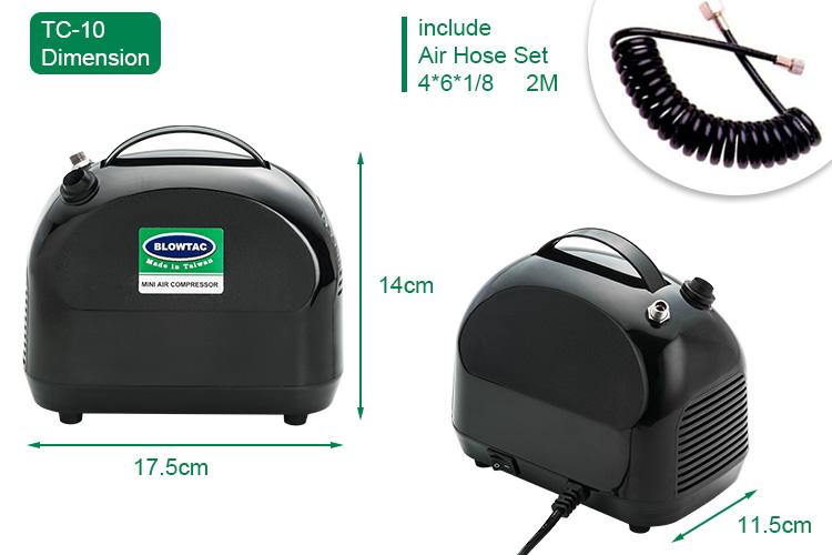 Mini Compresor de Aire Dimension_TC-10A